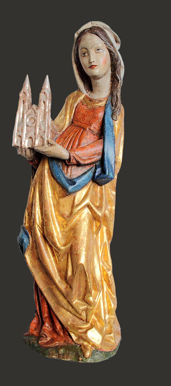 Heiligenfigur Nachher-Zustand vor Restaurierung