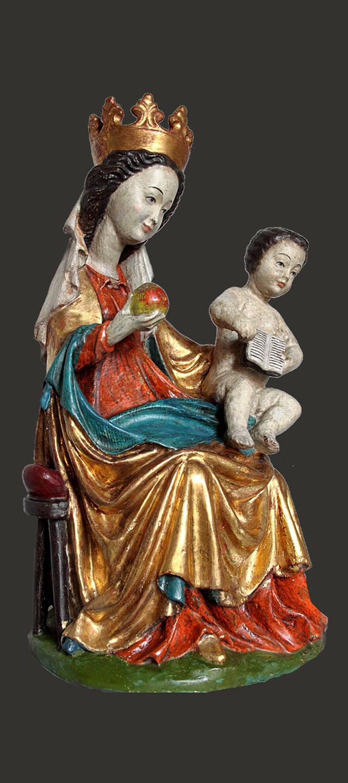 Maria mit Kind nach Restaurierung