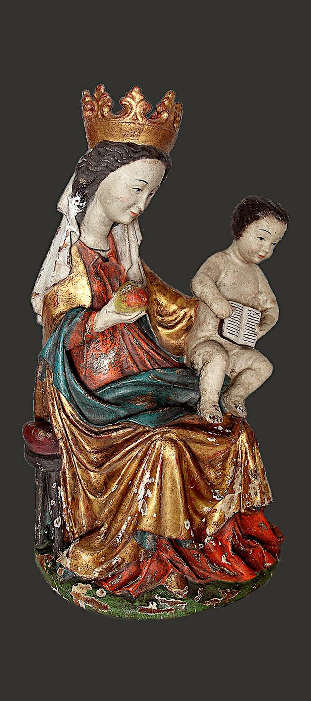 Maria mit Kind vor Restaurierung