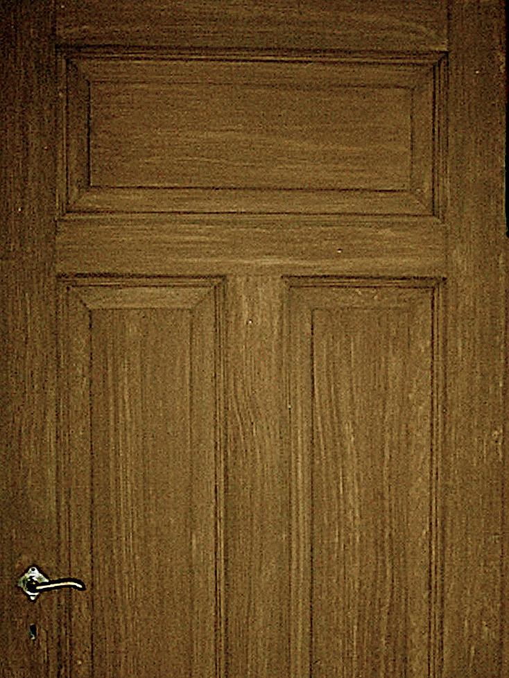 Maserierung einer Tür