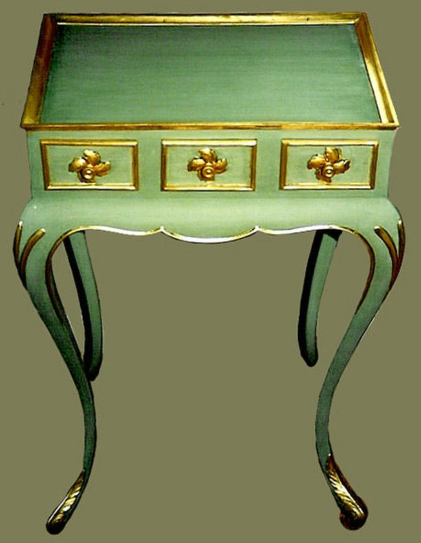 Vergoldung von Rokoko Möbeln